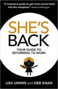 she's back returning to work book