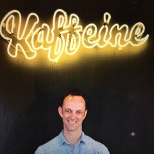 Peter Dore-Smith Owner of Kaffeine Coffee Shop